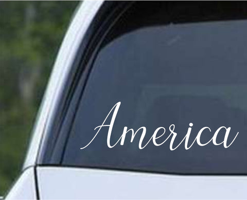 America Word Die Cut Vinyl Decal Sticker - Decals City