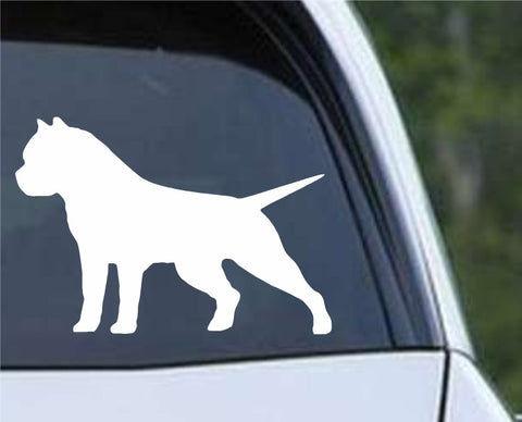 American Bully Pit Bull Dog Silhouette Die Cut Vinyl Decal Sticker - Decals City