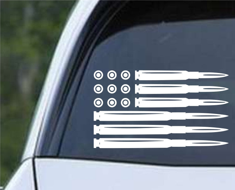 Ammo Flag AR Pro Gun Rights Die Cut Vinyl Decal Sticker - Decals City