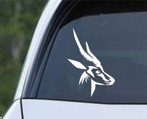 Antelope Head Hunting Die Cut Vinyl Decal Sticker - Decals City
