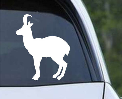 Antelope Silhouette Hunting HNT1-57 Die Cut Vinyl Decal Sticker - Decals City
