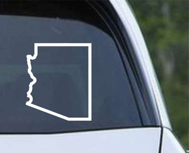 Arizona State Outline AZ - USA America Die Cut Vinyl Decal Sticker - Decals City