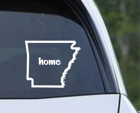 Arkansas Home State Outline AR - USA America Die Cut Vinyl Decal Sticker - Decals City