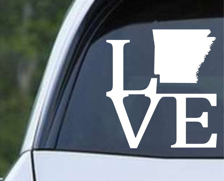 Arkansas State Love AR - USA America Die Cut Vinyl Decal Sticker - Decals City