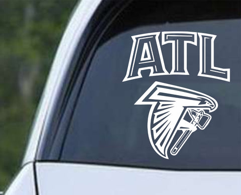 Atlanta Mash-Up Die Cut Vinyl Decal Sticker - Decals City