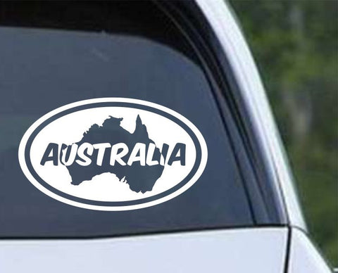 Australia Euro Oval Die Cut Vinyl Decal Sticker - Decals City