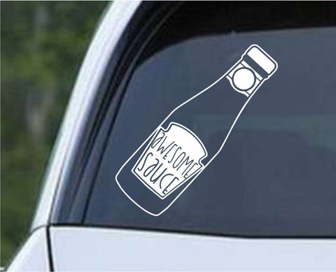 Awesome Sauce Die Cut Vinyl Decal Sticker
