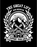 The Great Life - High Mountain Short Sleeve T-Shirt up to 5XL - Decals City