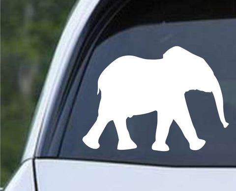 Baby Elephant Silhouette Die Cut Vinyl Decal Sticker - Decals City