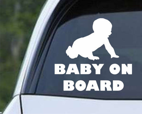 Baby on Board (a) Die Cut Vinyl Decal Sticker - Decals City