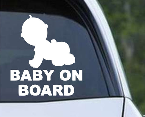 Baby on Board (c) Die Cut Vinyl Decal Sticker - Decals City