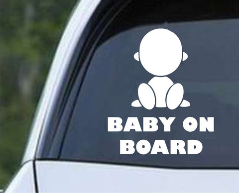 Baby on Board (d) Die Cut Vinyl Decal Sticker - Decals City