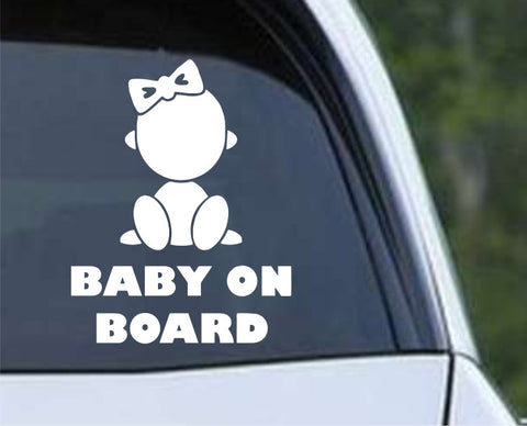 Baby on Board (e) Die Cut Vinyl Decal Sticker - Decals City