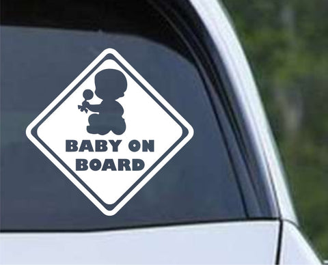 Baby on Board (g) Die Cut Vinyl Decal Sticker - Decals City