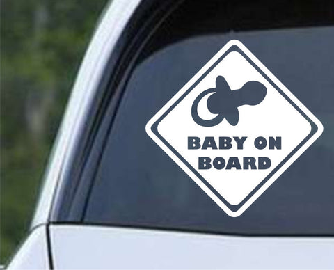 Baby on Board (h) Die Cut Vinyl Decal Sticker - Decals City