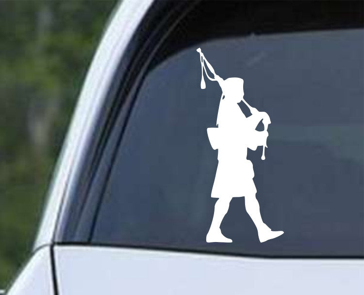 Bagpipe Scottish Piper Die Cut Vinyl Decal Sticker - Decals City