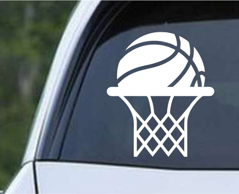 Basketball - Ball Hoops Net Die Cut Vinyl Decal Sticker - Decals City
