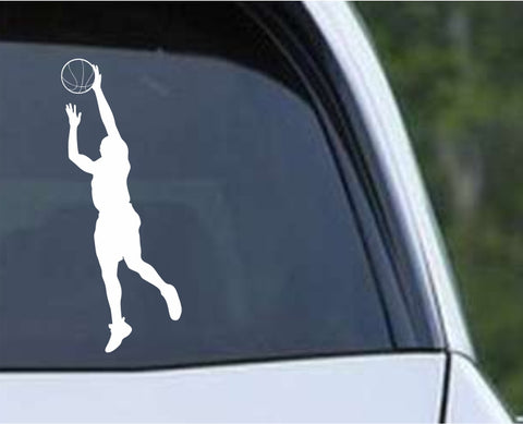 Basketball - Player v3 Die Cut Vinyl Decal Sticker - Decals City