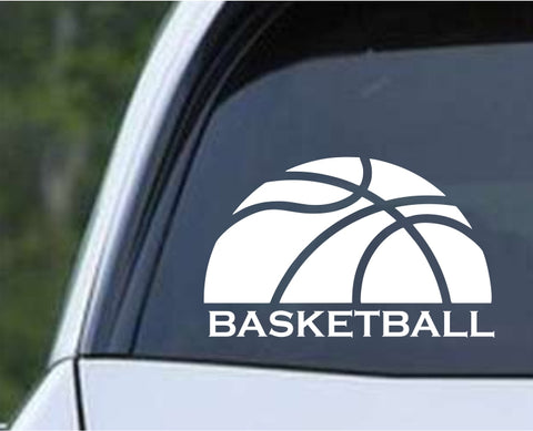 Basketball - Word Die Cut Vinyl Decal Sticker - Decals City