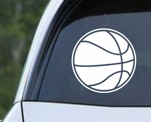 Basketball - Ball v2 Die Cut Vinyl Decal Sticker - Decals City