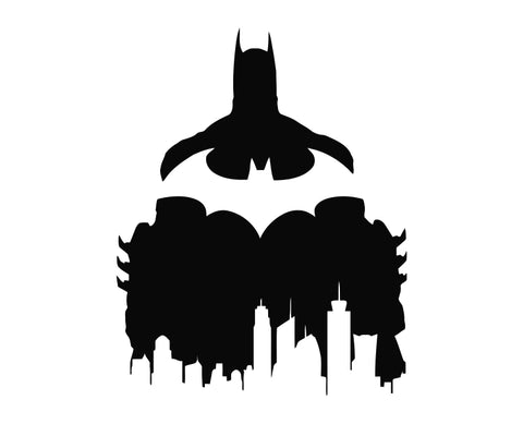 Batman - Gotham City Die Cut Vinyl Decal Sticker - Decals City