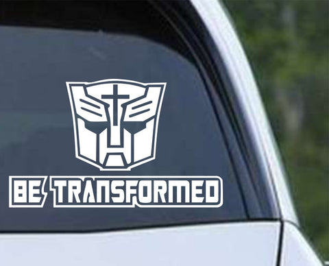 Be Transformed Christian Die Cut Vinyl Decal Sticker - Decals City