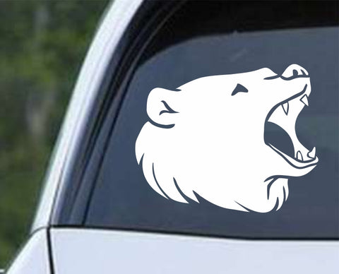 Bear Head Die Cut Vinyl Decal Sticker