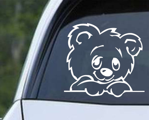 Cute Bear Cartoon Die Cut Vinyl Decal Sticker - Decals City