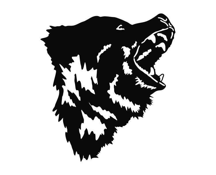 Bear Head Die Cut Vinyl Decal Sticker - Decals City