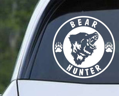 Bear Hunter Die Cut Vinyl Decal Sticker - Decals City