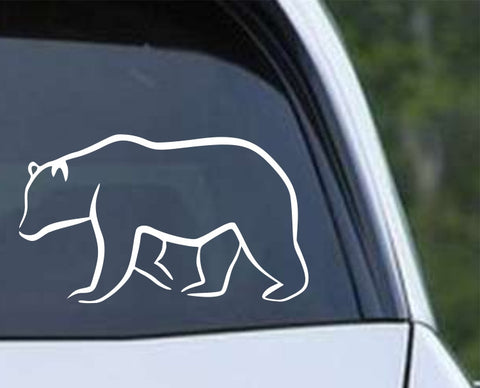 Bear Outline Die Cut Vinyl Decal Sticker - Decals City