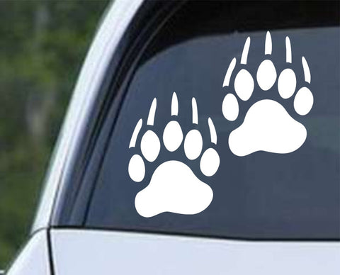 Bear Paws Die Cut Vinyl Decal Sticker - Decals City