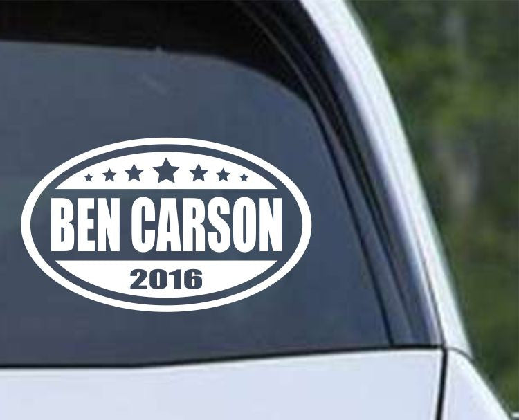 Ben Carson 2016 Euro Oval Die Cut Vinyl Decal Sticker - Decals City