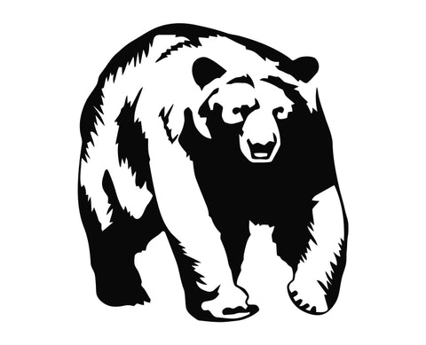 Big Black Grizzly Bear Die Cut Vinyl Decal Sticker
