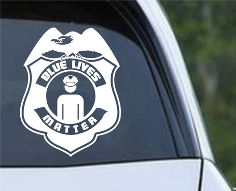 Blue Lives Matter Support Police Officers Die Cut Vinyl Decal Sticker