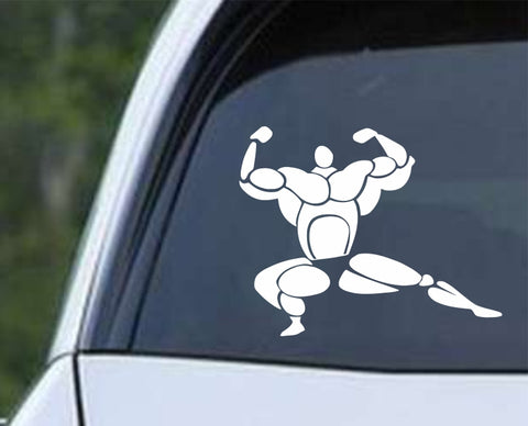 Body Builder Die Cut Vinyl Decal Sticker