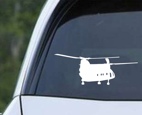 Boeing CH-47 Chinook 46 Helicopter Military War Aircraft Pilot Die Cut Vinyl Decal Sticker - Decals City