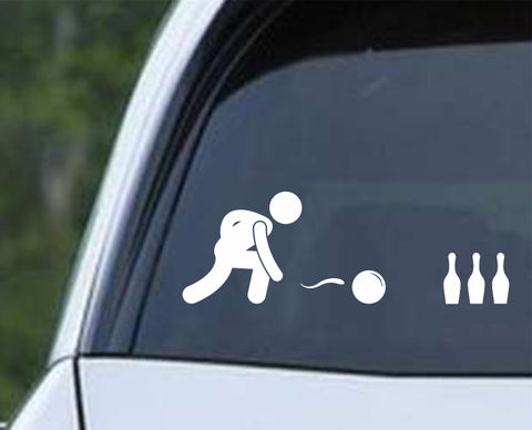 Bowling - Bowler Bowling Ball Pins Die Cut Vinyl Decal Sticker - Decals City