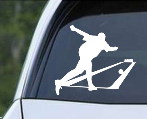 Bowling - Bowler Bowling Ball Pins v10 Die Cut Vinyl Decal Sticker - Decals City