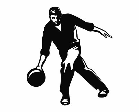 Bowling - Bowler Bowling Ball Pins v5 Die Cut Vinyl Decal Sticker - Decals City