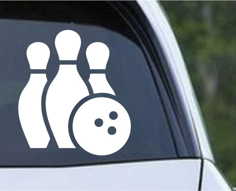 Bowling - Bowler Bowling Ball Pins v6 Die Cut Vinyl Decal Sticker - Decals City