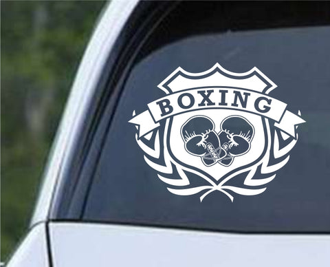 Boxing Shield v2 Die Cut Vinyl Decal Sticker - Decals City