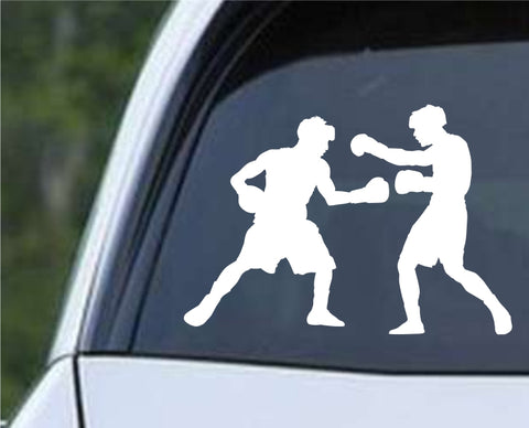 Boxing Silhouette v1 Die Cut Vinyl Decal Sticker - Decals City