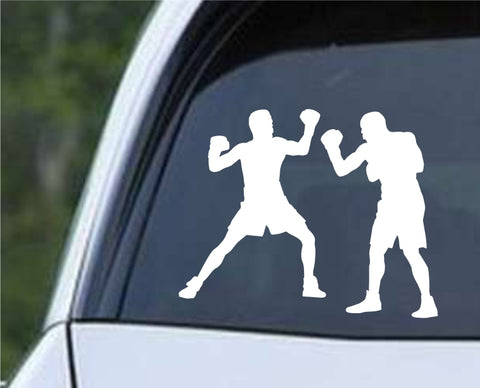 Boxing Silhouette v2 Die Cut Vinyl Decal Sticker - Decals City
