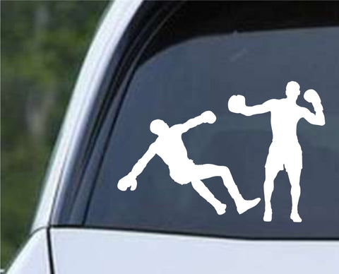 Boxing Silhouette v3 Die Cut Vinyl Decal Sticker - Decals City