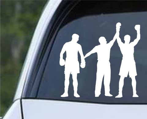 Boxing Silhouette v6 Die Cut Vinyl Decal Sticker - Decals City