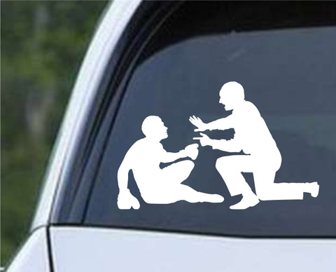 Boxing Silhouette v7 Die Cut Vinyl Decal Sticker - Decals City