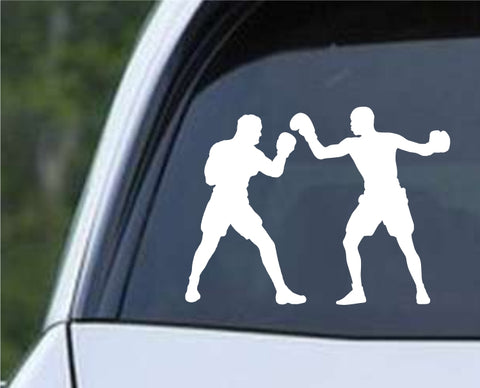 Boxing Silhouette v8 Die Cut Vinyl Decal Sticker - Decals City