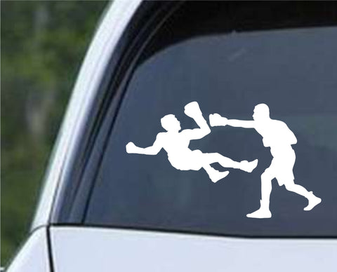 Boxing Silhouette v9 Die Cut Vinyl Decal Sticker - Decals City