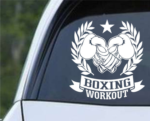 Boxing Workout Die Cut Vinyl Decal Sticker - Decals City
